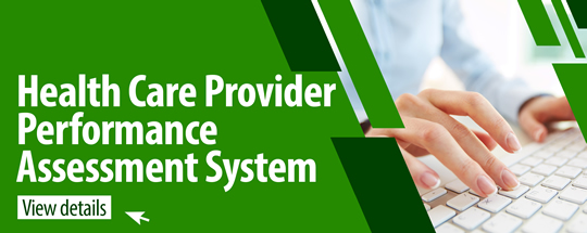 Health Care Provider Performance Assessment System
