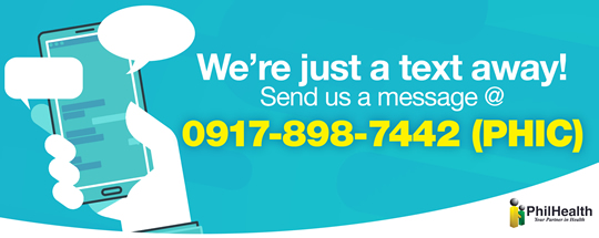 We're just a text away! 0917-898-7442
