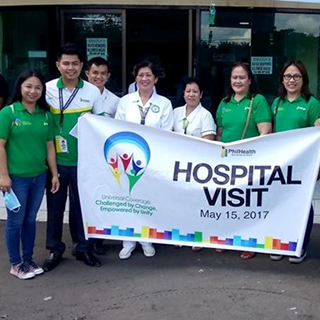 PhilHealth Region XII Team Visits Hospitals